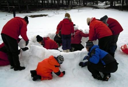 Construimos nuestro iglú